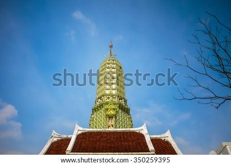 Wat Ratchaburana Ratchaworawihan or Wat Liab, Bangkok, Thailand. - stock photo