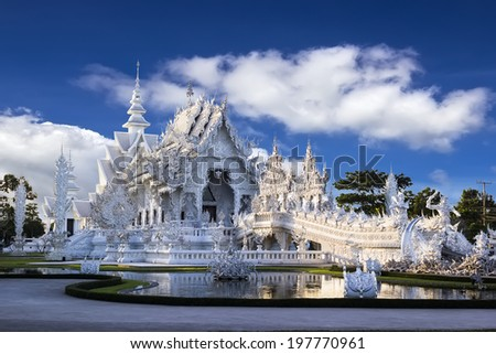 Wat Rong Khun in Chiangrai , Thailand - stock photo