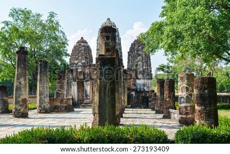 Wat Si Sawai - Sukhothai, Thailand - stock photo
