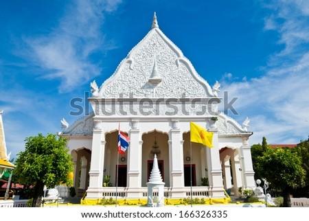 Wat Supattanaram Worawihan in Mueang UbonRatchathani thailand - stock photo