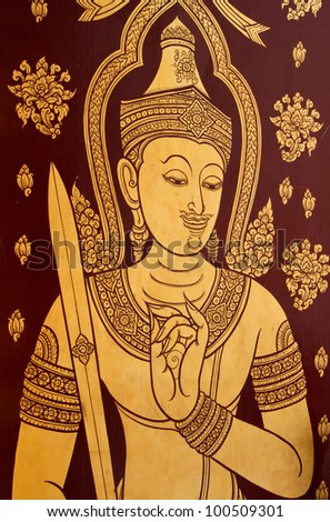 Wat Trimit, Bangkok, Thailand. Buddhist ,ancient fine art picture