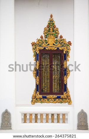 Wat Window, Bangkok, Thailand - stock photo