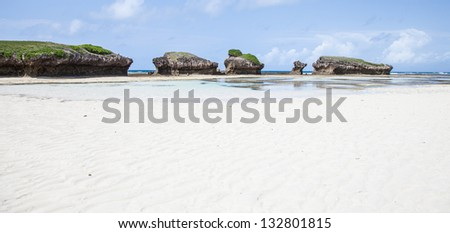 Watamu, close to Malindi, Kenya. The most beutiful beach of the area. Copy space.