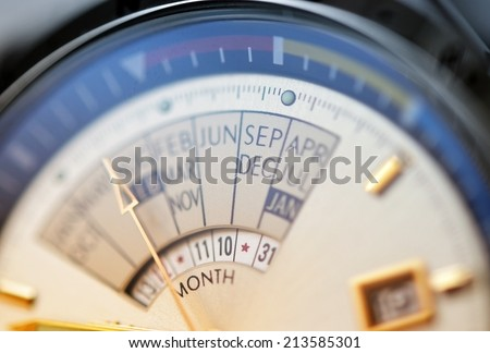 Watch, chronograph close-up - stock photo