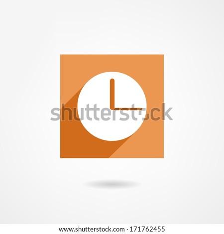 Watch icon - stock photo