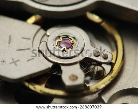 Watch  mechanism  - stock photo