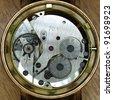 watch mechanism closeup - stock photo