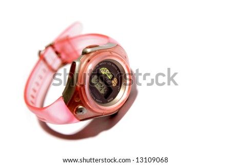 Watch on white background - stock photo