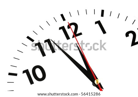 watch or clock isolated on white showing time concept - stock photo