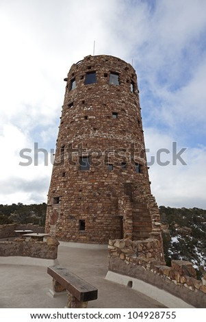 Watch Tower at Grand Canyon in Arizona, USA - stock photo