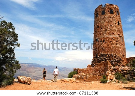Watch Tower at Grand Canyon in Arizona, USA - stock photo