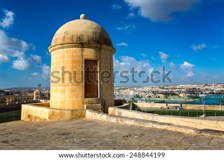 Watch Tower in Hastings Garden in Valletta, Malta - stock photo