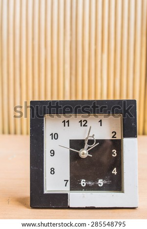 Watch vintage on wooden background. - stock photo