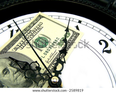 Watches and dollars. close-up - stock photo