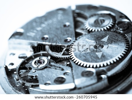 Watches, clockwork, interior.