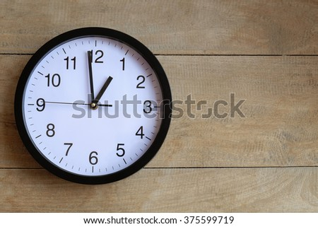 Watches  On wooden background , with copy space - stock photo