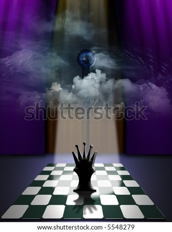 Watching over strategy - stock photo