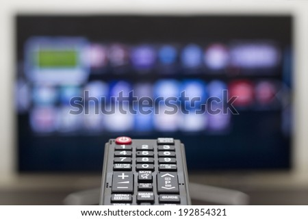 Watching television on the smart TV