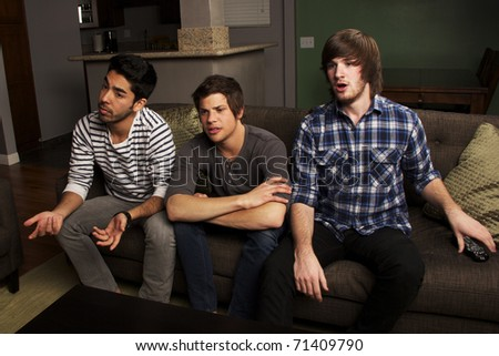 Watching the Big Game - stock photo
