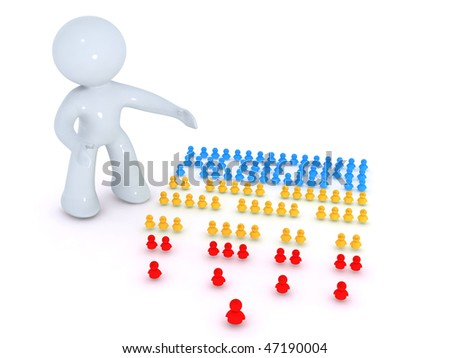 watching the org chart - stock photo