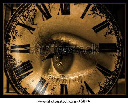 Watching time - stock photo