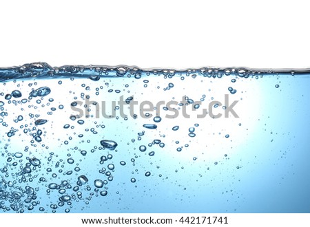 water and air bubbles - stock photo