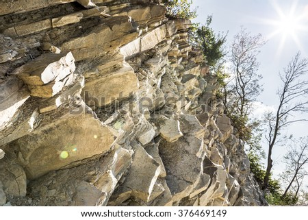 water and air erosion - stock photo