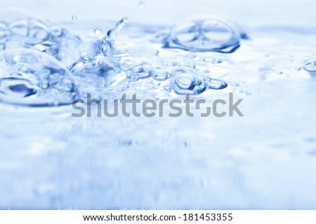water and bubbles  - stock photo