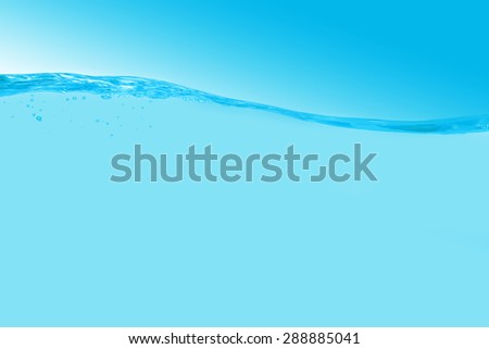 Water and  over white background