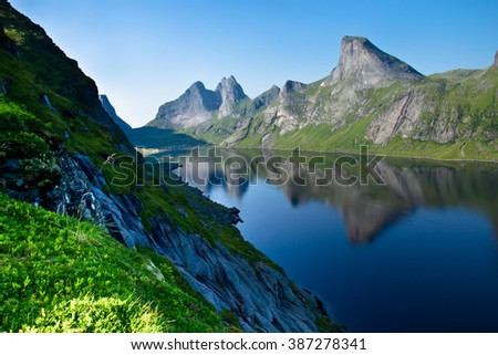 Water and rocks of Northern Norway