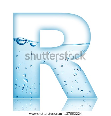 Water Water Bubble Alphabet Letter Letter Stock