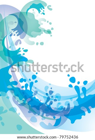 Water background. Bitmap copy 74309995 - stock photo