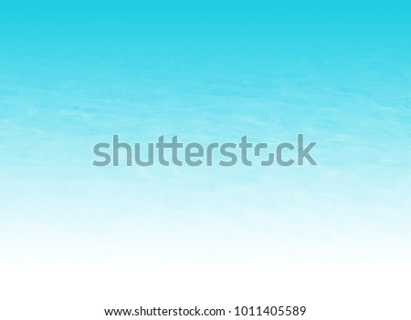 Water background gradient in light blue watercolor fading to white - abstract beach texture