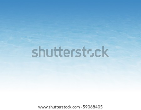 Water background illustration (bottom of image 100% white color) - stock photo