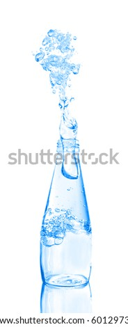water being poured from a bottle - stock photo