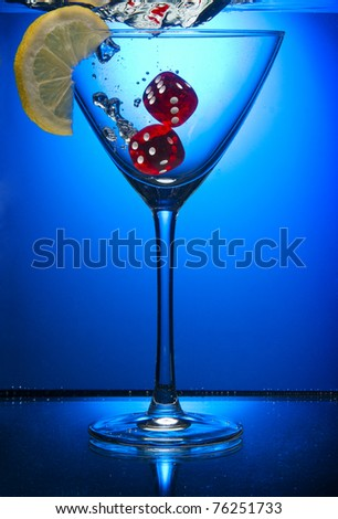 water blue limon object clean - stock photo