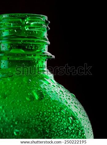 Water bottle closeup - stock photo