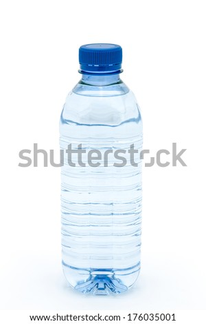 Water bottle isolated on a white background
