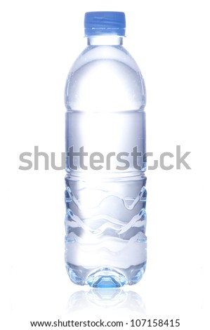 Water bottle isolated on white background - stock photo