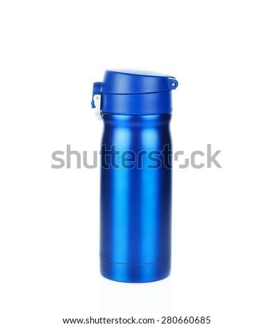 Water bottle isolated on white background. - stock photo