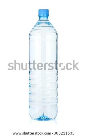 Water bottle. Isolated on white background - stock photo