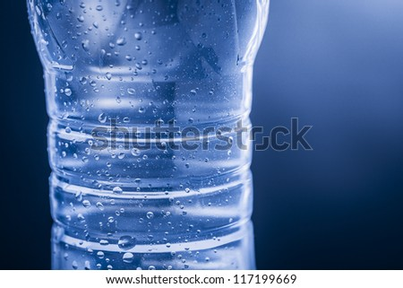 water bottle of plastic