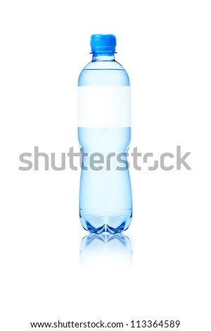 Water bottle with blank - stock photo