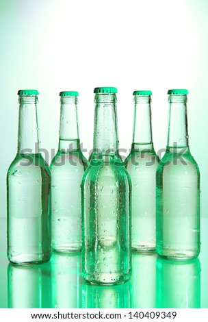 Water bottles close up - stock photo
