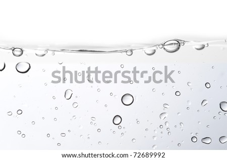 Water bubble on white background - stock photo