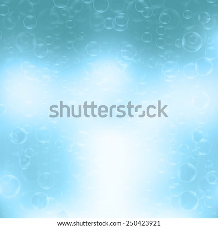 Water bubbles.Abstract bubbles on blue background - stock photo