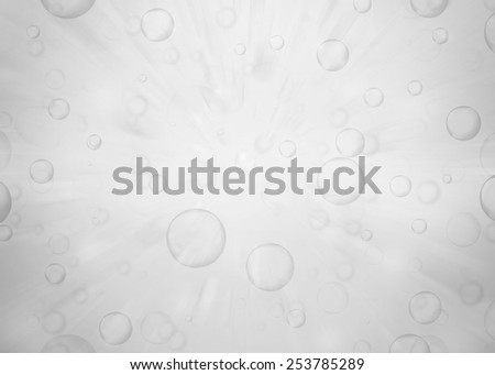 Water bubbles. Abstract bubbles on gray water background - stock photo