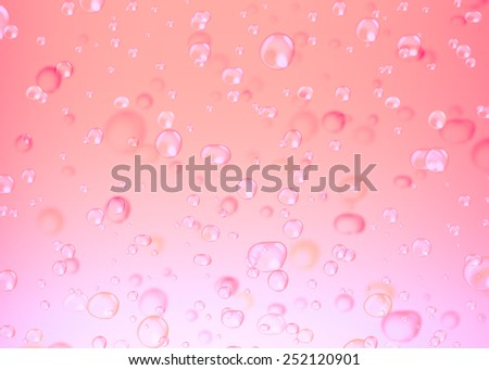 Water bubbles filtered to pink color. Abstract bubbles on pink background - stock photo