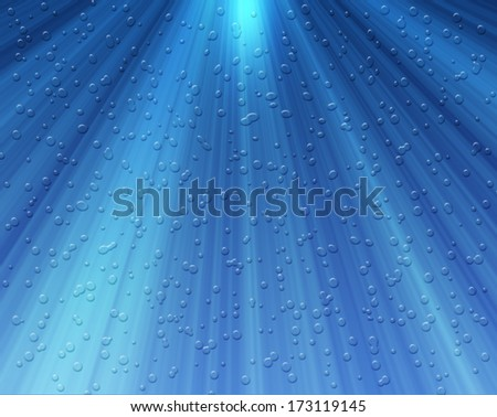 water bubbles on a blue background  - stock photo