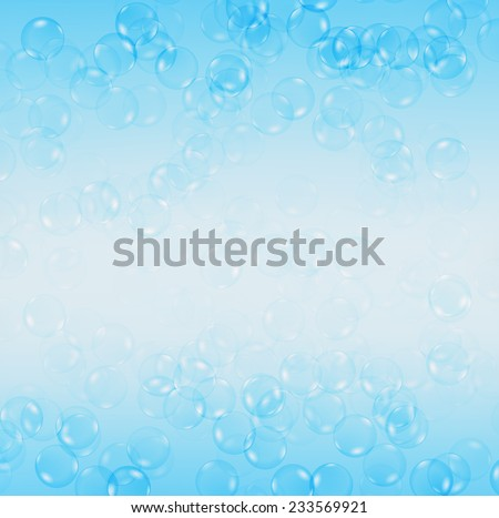 Water bubbles on blue background.